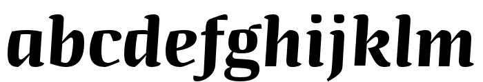 Quador Display Bold Italic Font LOWERCASE