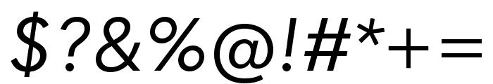 Quasimoda HairLineItalic Font OTHER CHARS