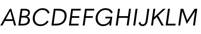 Quasimoda HairLineItalic Font UPPERCASE