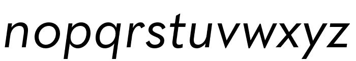 Quasimoda HairLineItalic Font LOWERCASE