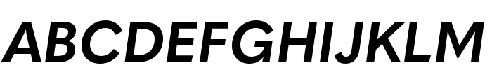 Quasimoda HeavyItalic Font UPPERCASE