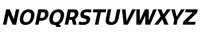 Quatro Bold Italic Font UPPERCASE