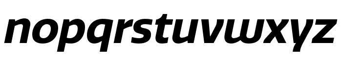 Quatro Bold Italic Font LOWERCASE