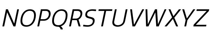 Quatro Book Italic Font UPPERCASE