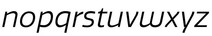 Quatro Book Italic Font LOWERCASE