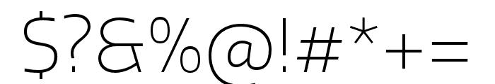 Quatro ExtraLight Font OTHER CHARS
