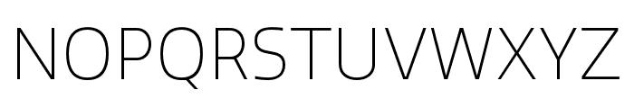 Quatro ExtraLight Font UPPERCASE