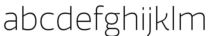 Quatro ExtraLight Font LOWERCASE