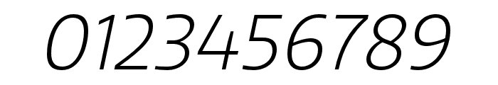 Quatro Light Italic Font OTHER CHARS