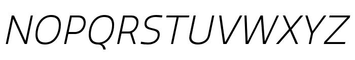 Quatro Light Italic Font UPPERCASE