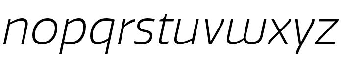 Quatro Light Italic Font LOWERCASE