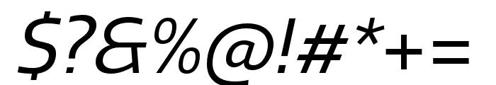 Quatro Regular Italic Font OTHER CHARS
