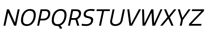 Quatro Regular Italic Font UPPERCASE