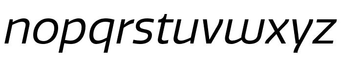 Quatro Regular Italic Font LOWERCASE