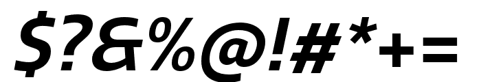 Quatro SemiBold Italic Font OTHER CHARS