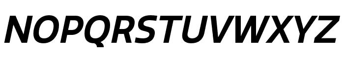 Quatro SemiBold Italic Font UPPERCASE
