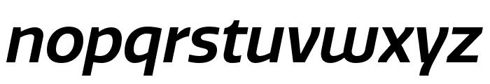 Quatro SemiBold Italic Font LOWERCASE