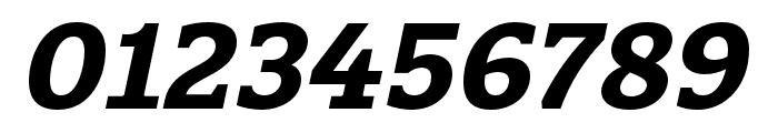 Quatro Slab Bold Italic Font OTHER CHARS