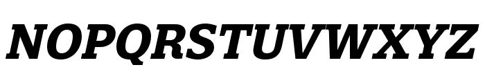 Quatro Slab Bold Italic Font UPPERCASE