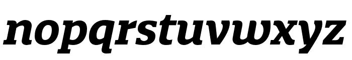 Quatro Slab Bold Italic Font LOWERCASE