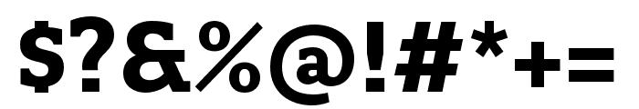 Quatro Slab Bold Font OTHER CHARS