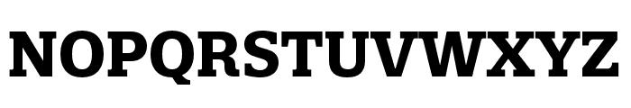 Quatro Slab Bold Font UPPERCASE