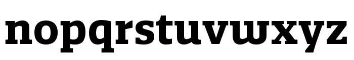 Quatro Slab Bold Font LOWERCASE