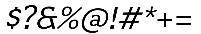 Quatro Slab Italic Font OTHER CHARS