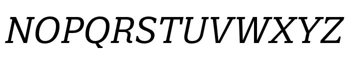 Quatro Slab Italic Font UPPERCASE