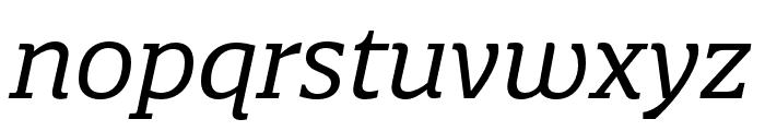 Quatro Slab Italic Font LOWERCASE