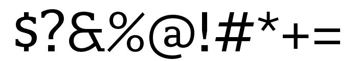 Quatro Slab Regular Font OTHER CHARS