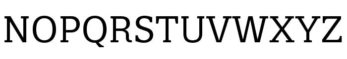 Quatro Slab Regular Font UPPERCASE
