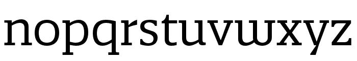Quatro Slab Regular Font LOWERCASE