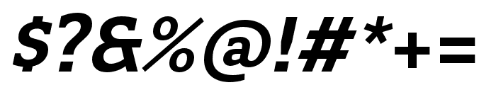Quatro Slab SemiBold Italic Font OTHER CHARS