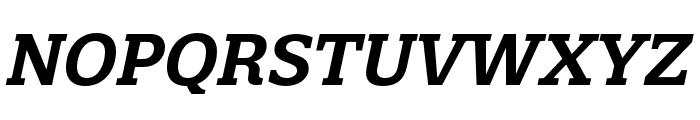 Quatro Slab SemiBold Italic Font UPPERCASE