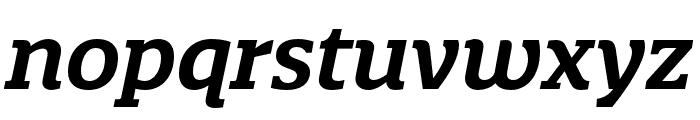 Quatro Slab SemiBold Italic Font LOWERCASE
