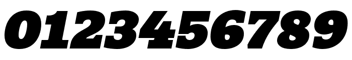 Quatro Slab UltraBlack Italic Font OTHER CHARS