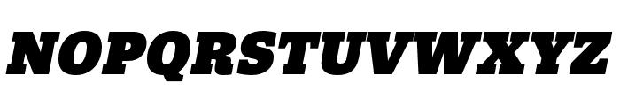 Quatro Slab UltraBlack Italic Font UPPERCASE