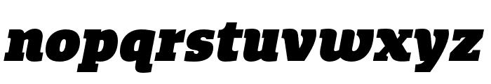 Quatro Slab UltraBlack Italic Font LOWERCASE