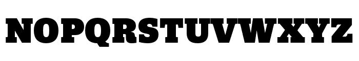 Quatro Slab UltraBlack Font UPPERCASE