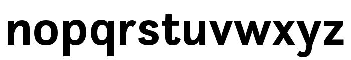 Questa Sans Bold Font LOWERCASE
