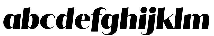 Quiche Sans Black Italic Font LOWERCASE