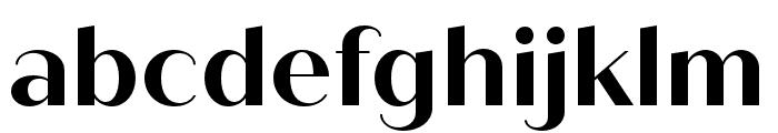 Quiche Sans Bold Font LOWERCASE