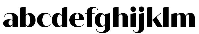 Quiche Sans ExtraBold Font LOWERCASE