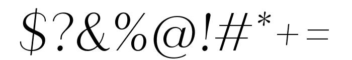Quiche Sans Light Italic Font OTHER CHARS