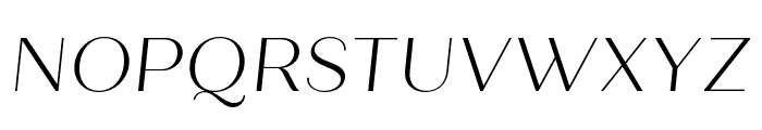 Quiche Sans Light Italic Font UPPERCASE