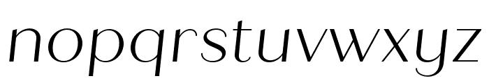 Quiche Sans Light Italic Font LOWERCASE