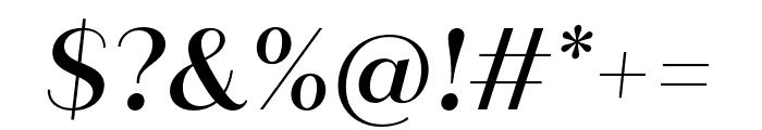 Quiche Sans Medium Italic Font OTHER CHARS