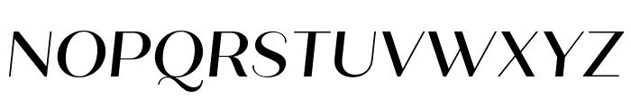 Quiche Sans Medium Italic Font UPPERCASE