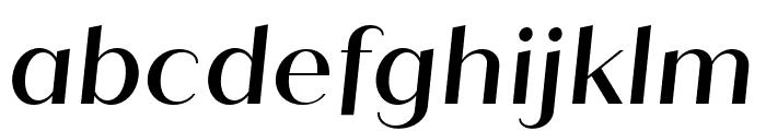 Quiche Sans Medium Italic Font LOWERCASE